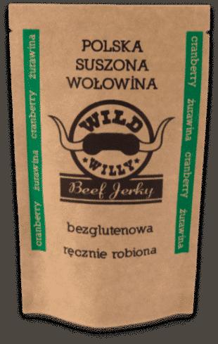 Suszona wołowina Wild Willy żurawina